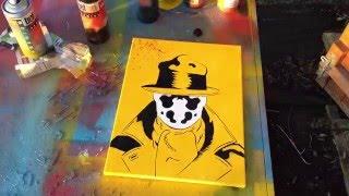Rorsarch Watchmen stencil art