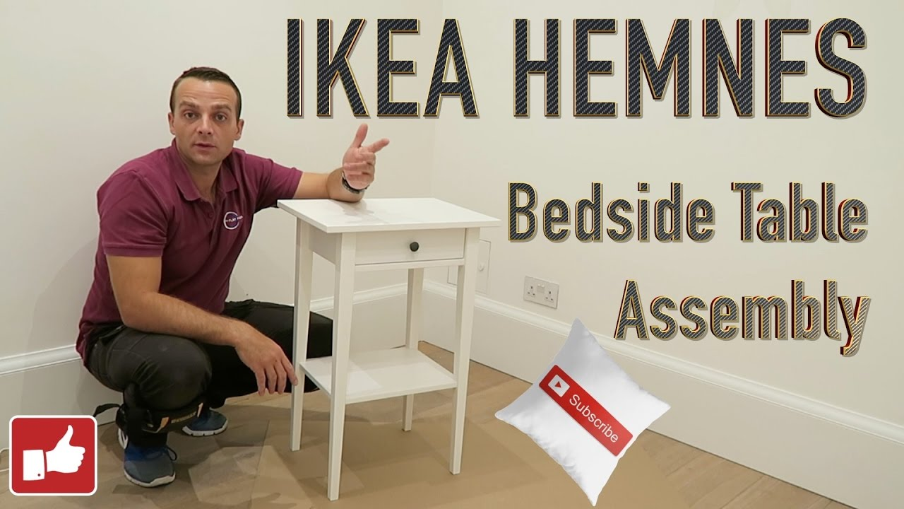 IKEA HEMNES BEDSIDE TABLE Assembly