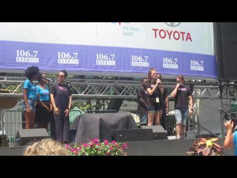 Caitlin Houlahan and the Cast of Waitress at Broadway in Bryant Park 07-20-2017