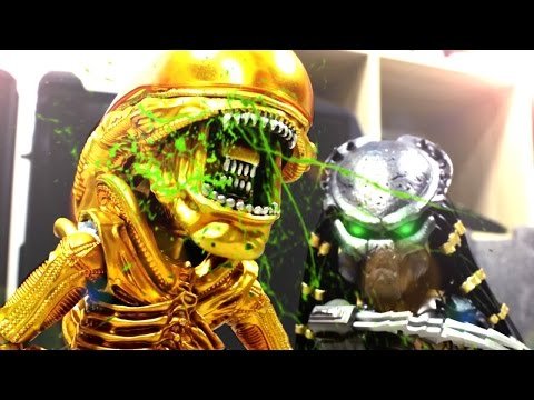 Alien VS Predator Stop Motion...