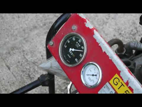 Rover Gas Turbine Pump, running and pumping water