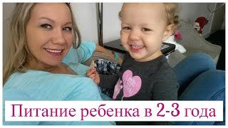 РАЦИОН ПИТАНИЯ РЕБЕНКА В 2-3 ГОДА