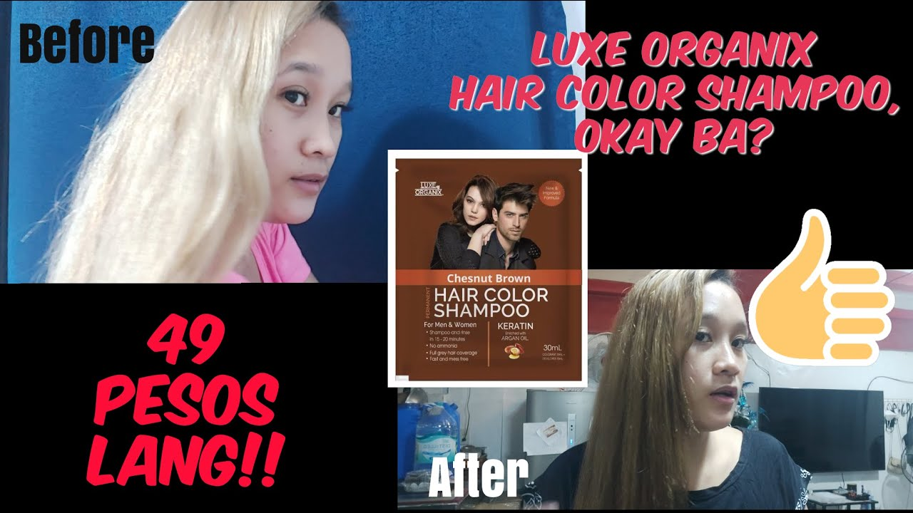 Luxe Organix Hair Color Shampoo From Blondina To Natural Brown Real Quick Mommy Klenia Youtube