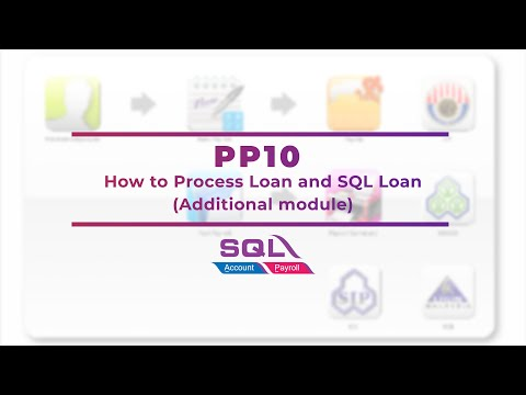 PP10How to Process Loan and SQL Loan(additional module)