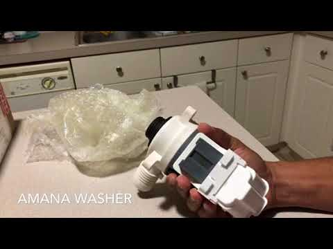 AMANA washer drain pump replacement