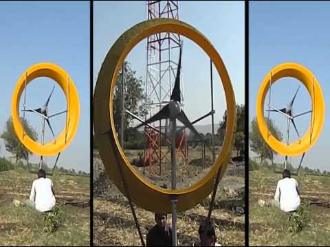 Inclined flanged diffuser augmented small wind turbine by Sandip Achutrao Kale