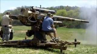 Shooting German Flak 36 88 mm