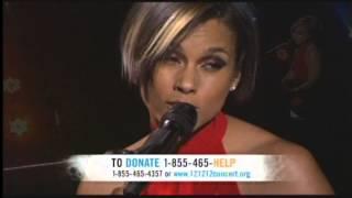 Alicia Keys Brand New Me 121212concert hurricane Sandy