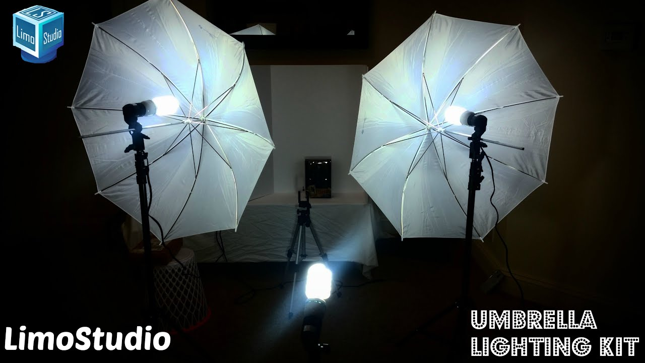 limostudio umbrella lighting kit unboxing setup review my toy review station
