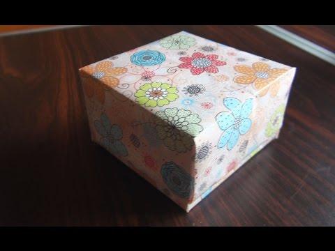 Как сделать квадратную коробку из картона своими руками квадратную