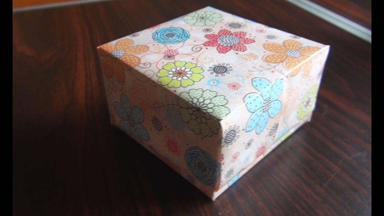 Как из картона сделать квадратную коробочку из картона своими руками фото 274