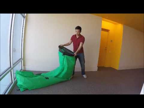 inflatable couch air lounger tutorial doovi. Black Bedroom Furniture Sets. Home Design Ideas