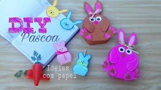 DIY Páscoa/ ideias para você criar usando papel