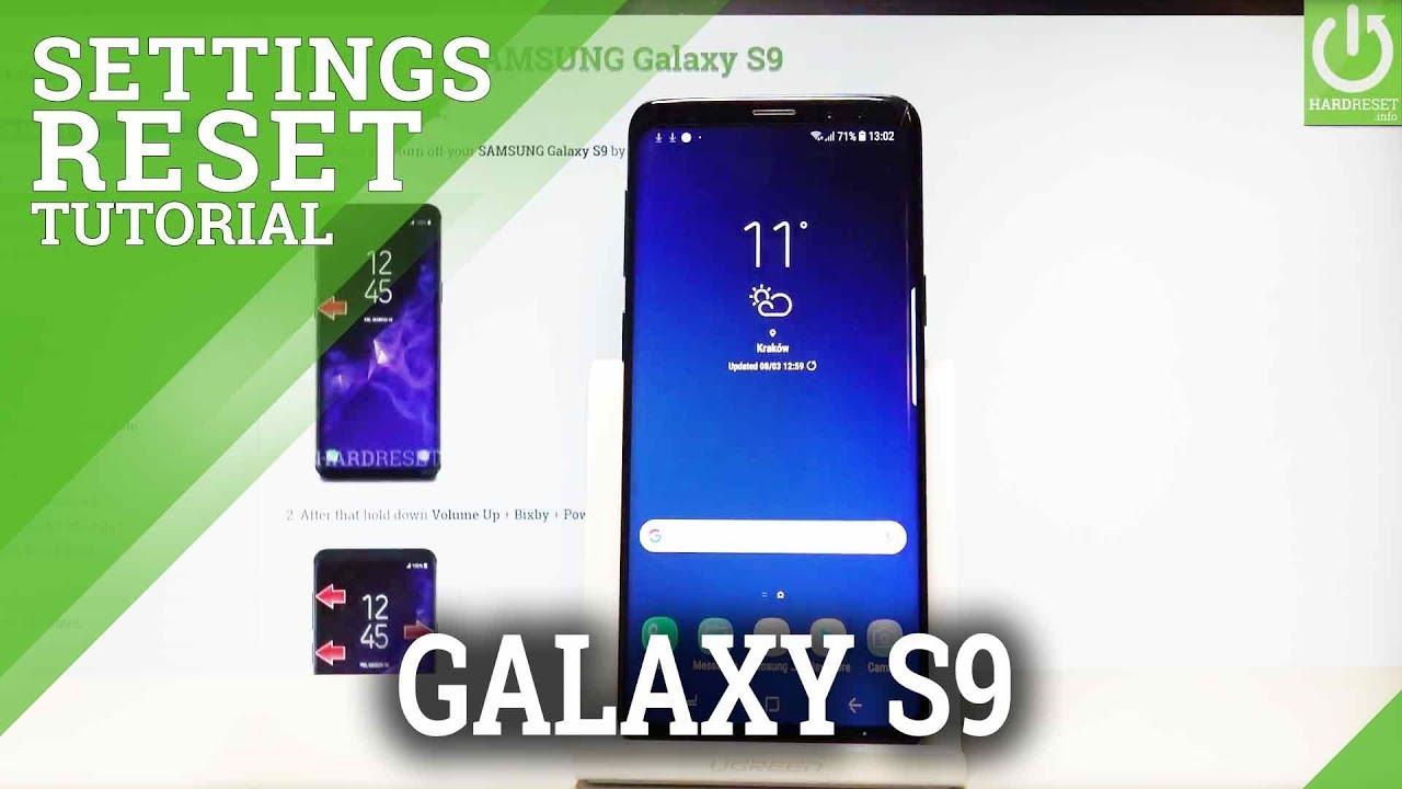 Einstellungen zurücksetzen SAMSUNG Galaxy S19, Mehr anzeigen