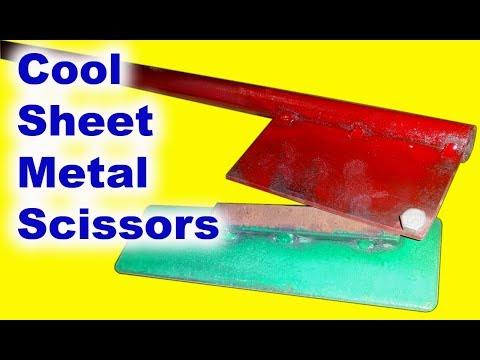 Homemade scissors for cutting sheet metal