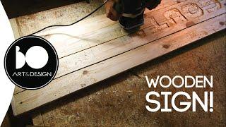 جعل علامة خشبية | نحت الحروف P. 2 | بو فن التصميم