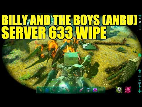 OFFICIAL SERVER 633 WIPE - HYDRA VS Billy And The Boys, ANBU (Ark Official Wipe Raid)