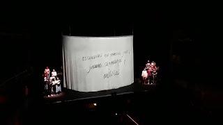 Ensayo general de 'Carmina Burana' de La Fura dels Bauls en el Teatro Calderón de Madrid