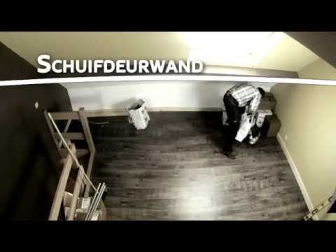 Rails Schuifdeuren Zolder.Schuifdeurwand Youtube