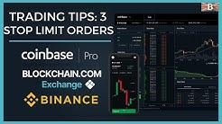 Crypto Trading Tip 3: Stop Limit Orders Explained - Coinbase Pro & Binance