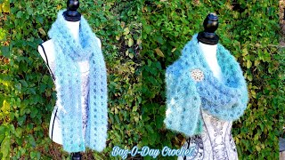 How To Crochet Ladies Scarf - Breakfast at Tiffany