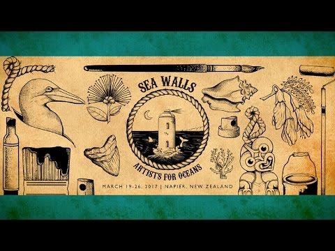 Teaser video for SeaWalls: Artists For Oceans - Napier, NewZealand 2017