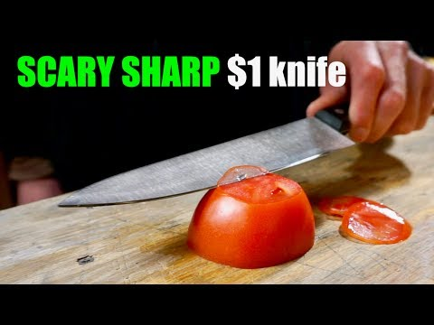 Sharpening A $1 knife