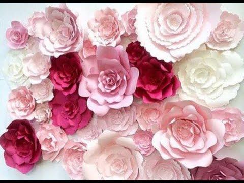 Большие цветы из обычной бумаги своими руками