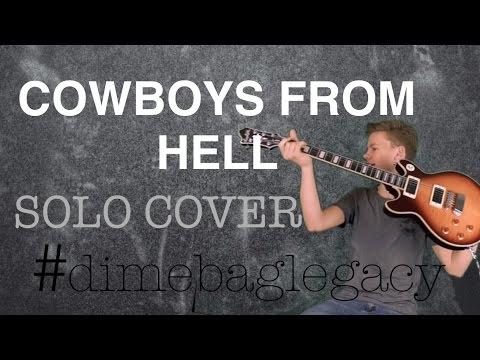COWBOYS FROM HELL GUITAR SOLO COVER | JT | #DIMEBAGLEGACY