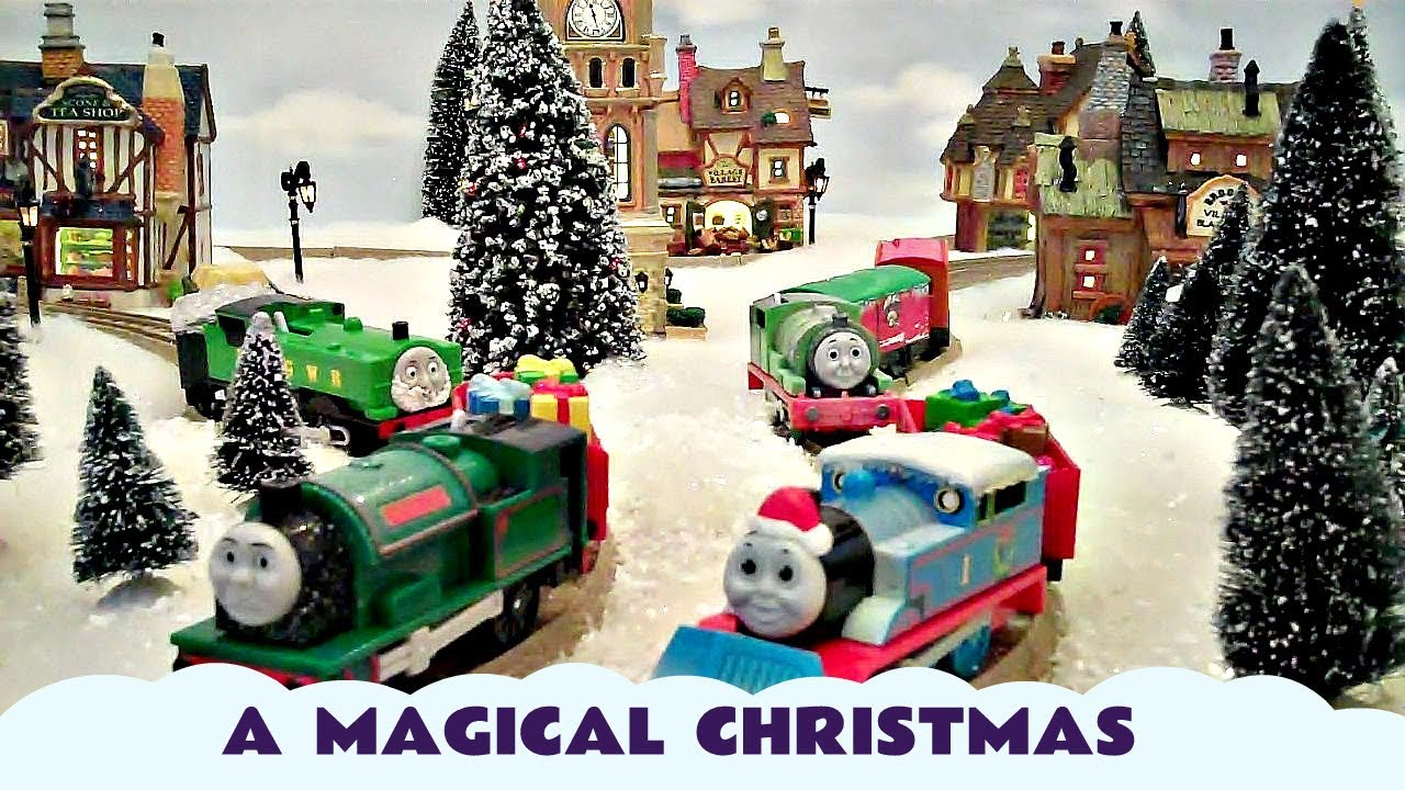 Thomas The Train Christmas.Thomas And Friends Magical Christmas Holiday Train Set Kids Toy Thomas The Tank Engine