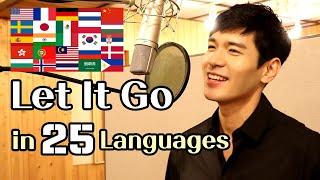 Let It Go (Frozen) Male Cover in 25 Languages | Multi-Language Version - Travys Kim
