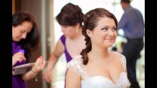 Свадебная прическа на длинные волосы. Москва.