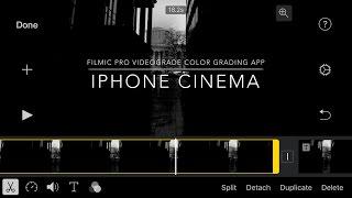 VIDEOGRADE app iPhone Filmic pro 4K Columbus Ohio downtown Videograde Colorgrade app
