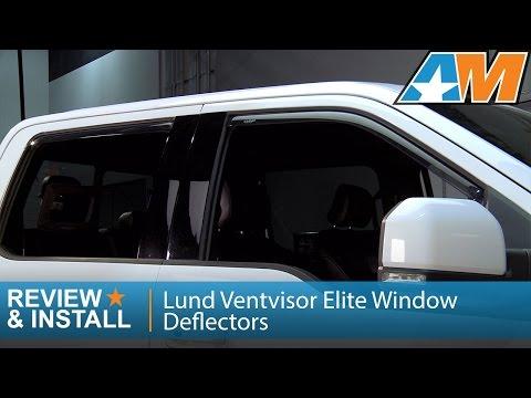 2015-2016 F-150 Lund Ventvisor Elite Window Deflectors (SuperCrew) Review & Install