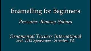 Enamelling for Beginners by Ramsey Holmes
