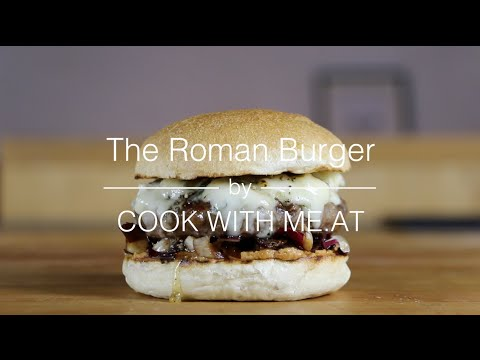 The Roman Burger - Grilled Radicchio Beef Gorgonzola Hamburger - COOK WITH ME.AT