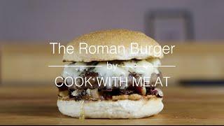 The Roman Burger - Grilled Radicchio Beef Gorgonzola Hamburger - COOK WITH ME.AT