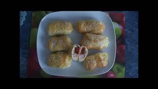 Рецепт Пирожки с ветчиной сыром и вялеными помидорами