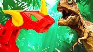 ТИРАННОЗАВР против ДРАКОНА - Охота на СТЕГОЗАВРА! Про динозавров для детей истории игрушек