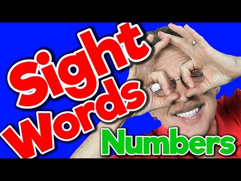 Sight Words - Numbers | Sight Words Kindergarten | High Frequency Words | Jack Hartmann