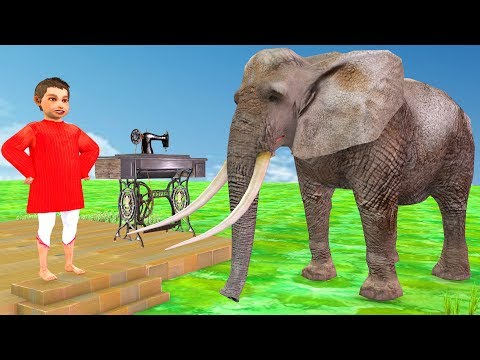 Elephant and Tailor Hindi Kahaniya | Moral Stories For Kids | Cartoon For Children | 3D Fairy Tales