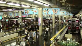 阪急特急、「事故による遅れを取り戻せ!」のクイックターン。 thumbnail