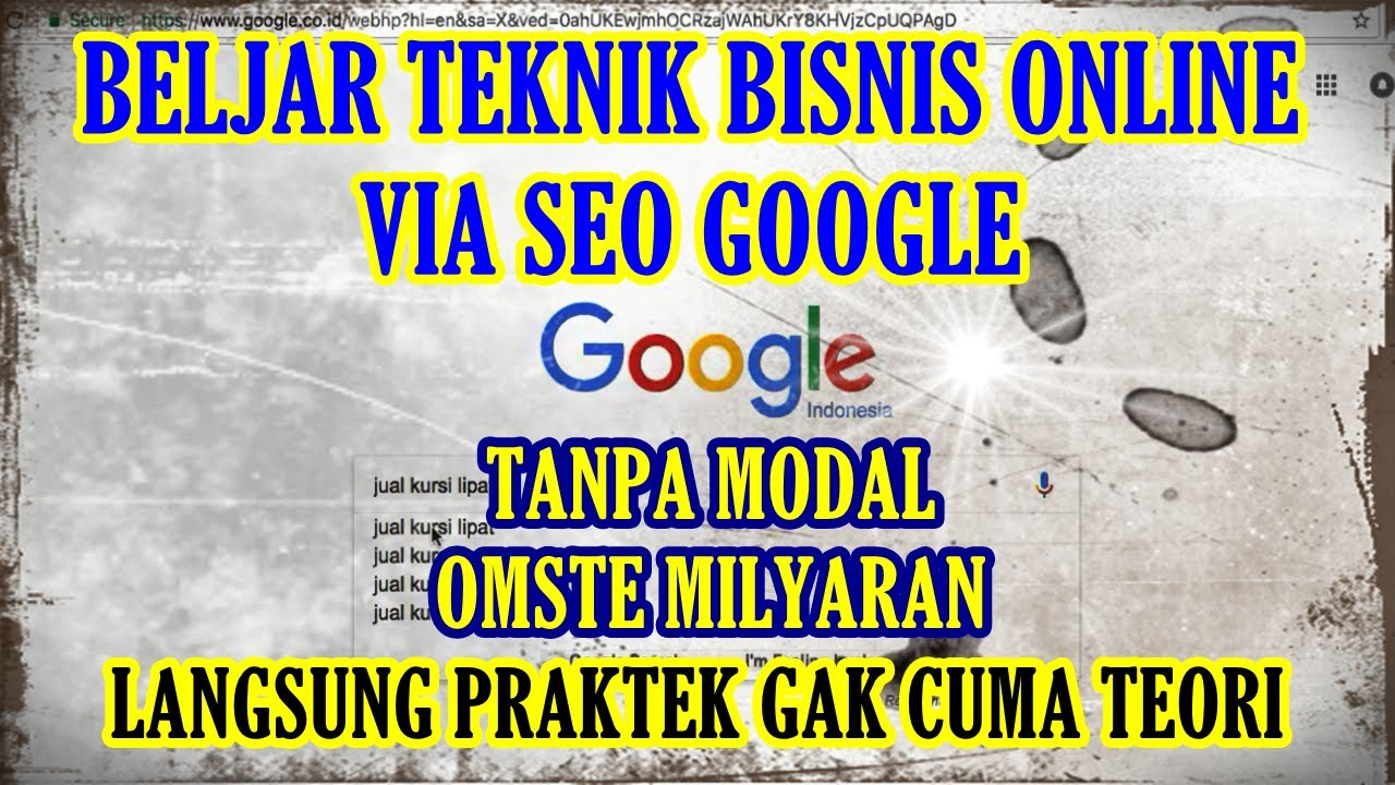 Belajar Teknik Jualan Lewat SEO Google (Apa itu SEO?) Cara ...