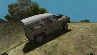 Driving a Defender on Screamer 4x4 Game