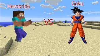 Herobrine Vs. Goku (Minecraft Animation)