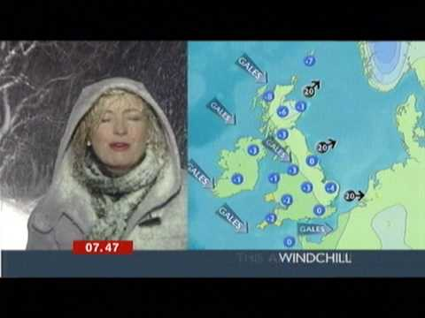Very snowy weather report BBC (Carol Kirkwood at the Glenshane Pass)