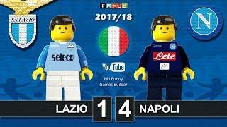 Lazio Napoli 1-4 • Serie A (20/09/2017) goal highlights sintesi Lego Calcio 2017/18
