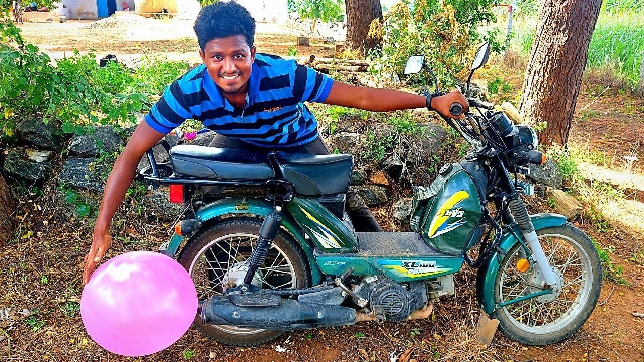 Big Balloon🎈 Vs XL 100 Bike 🏍   பலூன் என்னடா இப்படி ஆகிருச்சு!   Vijay Ideas