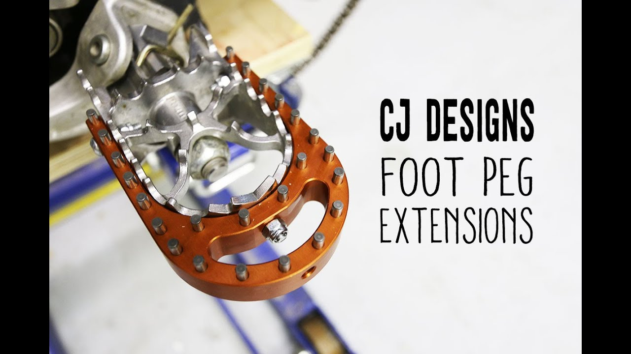 overview and install cj designs foot peg extensions ktm - youtube