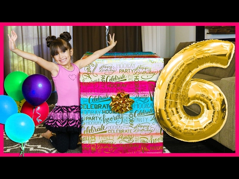 EVELYN'S 6th BIRTHDAY PRESENT OPENING - What I got for my Birthday - Giant Surprise Toys Family Fun